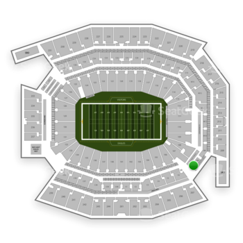 Philadelphia Eagles at Lincoln Financial Field Section M 7 View