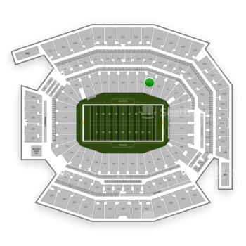 Philadelphia Eagles at Lincoln Financial Field Section 117 View