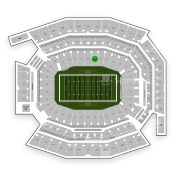 Philadelphia Eagles at Lincoln Financial Field Section 119 View