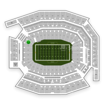 Philadelphia Eagles at Lincoln Financial Field Section 127 View