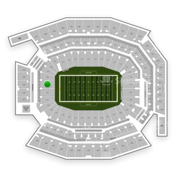 Philadelphia Eagles at Lincoln Financial Field Section 129 View