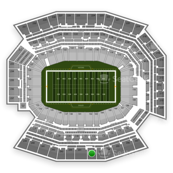 Philadelphia Eagles at Lincoln Financial Field Section 202 View