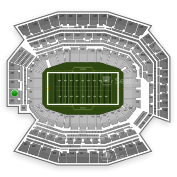 Philadelphia Eagles at Lincoln Financial Field Section 236 View