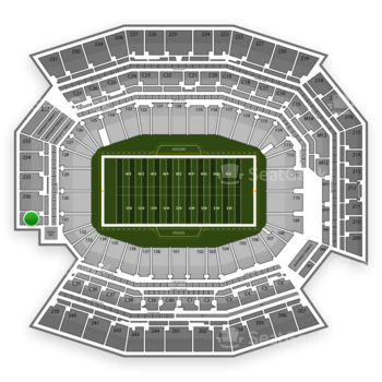 Philadelphia Eagles at Lincoln Financial Field Section 237 View