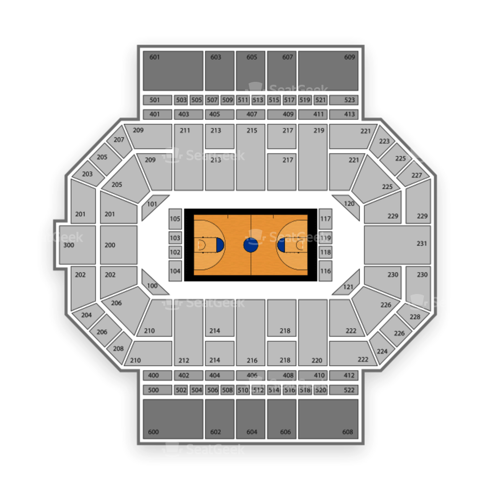 IPFW Mastodons Basketball Seating Chart