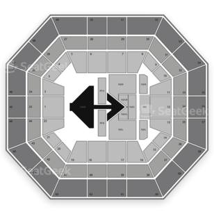 Taco Bell Arena Seating Chart Concert