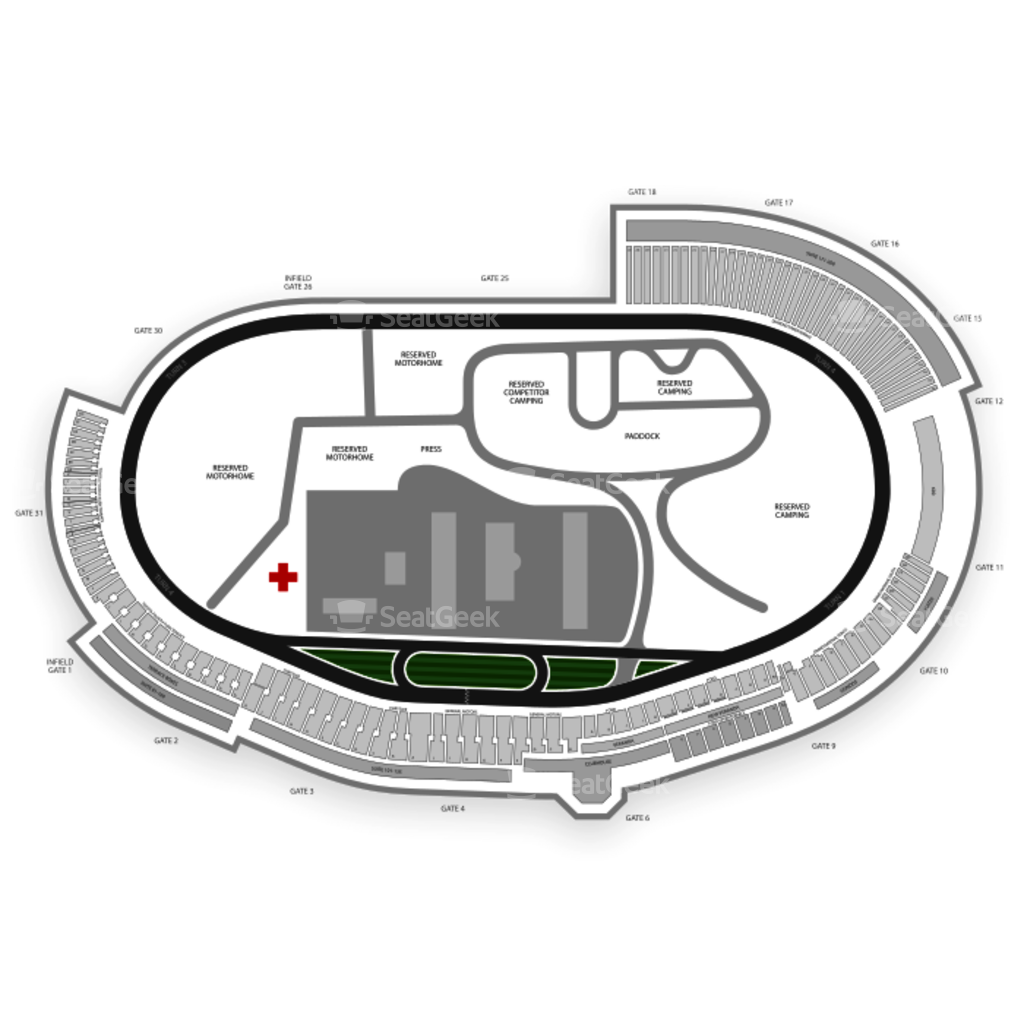 Charlotte Motor Sdway Seating Chart & Map | SeatGeek on