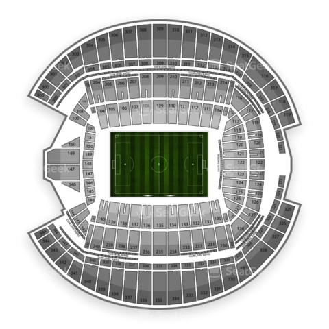 CenturyLink Field seating chart Seattle Sounders FC