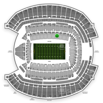 Seattle Seahawks at CenturyLink Field Section 111 View