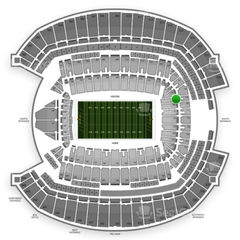 Seattle Seahawks at CenturyLink Field Section 119 View
