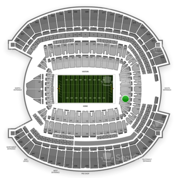 Seattle Seahawks at CenturyLink Field Section 124 View