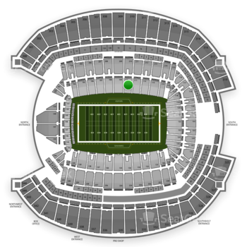Seattle Seahawks at CenturyLink Field Section 110 View