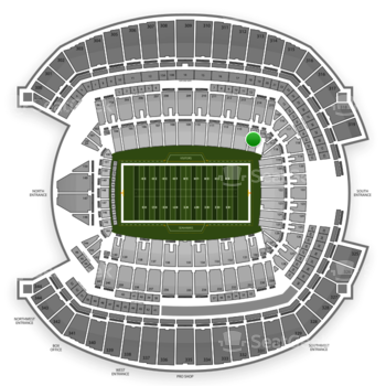 Seattle Seahawks at CenturyLink Field Section 114 View