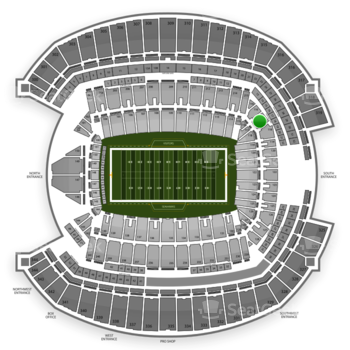 Seattle Seahawks at CenturyLink Field Section 117 View
