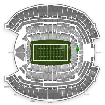 Seattle Seahawks at CenturyLink Field Section 121 View