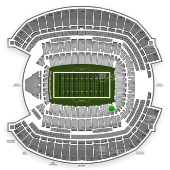 Seattle Seahawks at CenturyLink Field Section 130 View