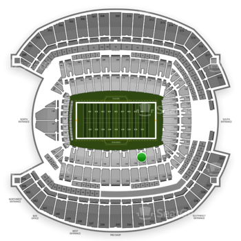 Seattle Seahawks at CenturyLink Field Section 132 View