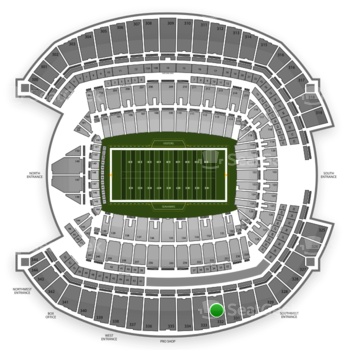 Seattle Seahawks at CenturyLink Field Section 332 View