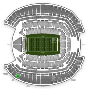Seattle Seahawks at CenturyLink Field Section 341 View