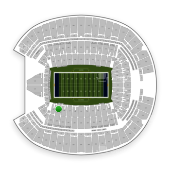 Seattle Seahawks at CenturyLink Field Section 139 View