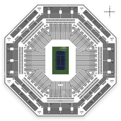 Indian Wells Tennis Garden seating chart BNP Paribas Open