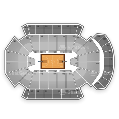 Jacksonville Veterans Memorial Arena seating chart NCAA Men's Basketball Tournament
