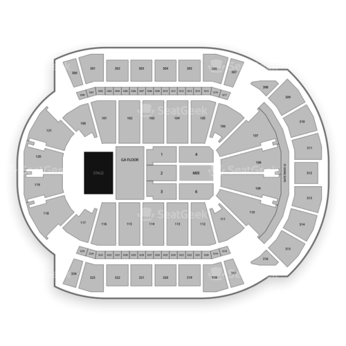 VyStar Veterans Memorial Arena Seating Chart Concert