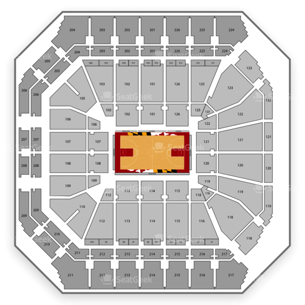 Xfinity Center Seating Chart NCAA Womens Basketball