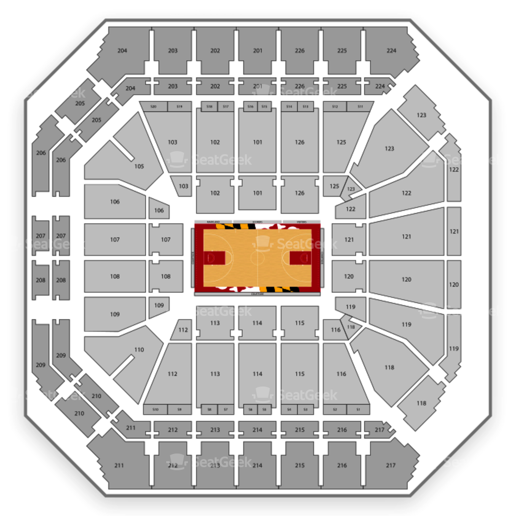 Xfinity Center Seating Chart Map Seatgeek