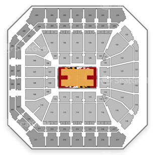 Xfinity Center Seating Chart NCAA Football