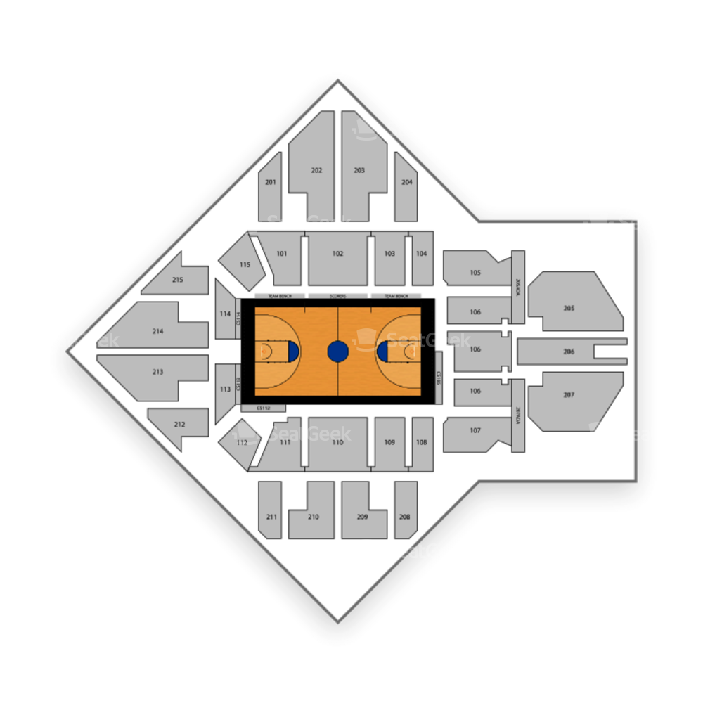Villanova Wildcats Basketball Seating Chart