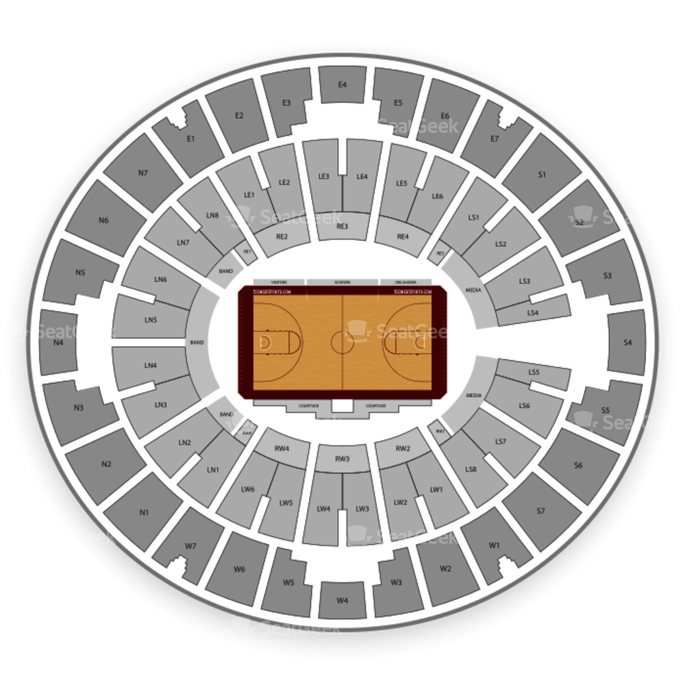 Oklahoma Sooners Womens Basketball Seating Chart