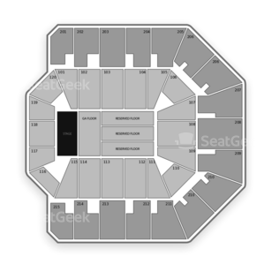 Liacouras Center Seating Chart Concert