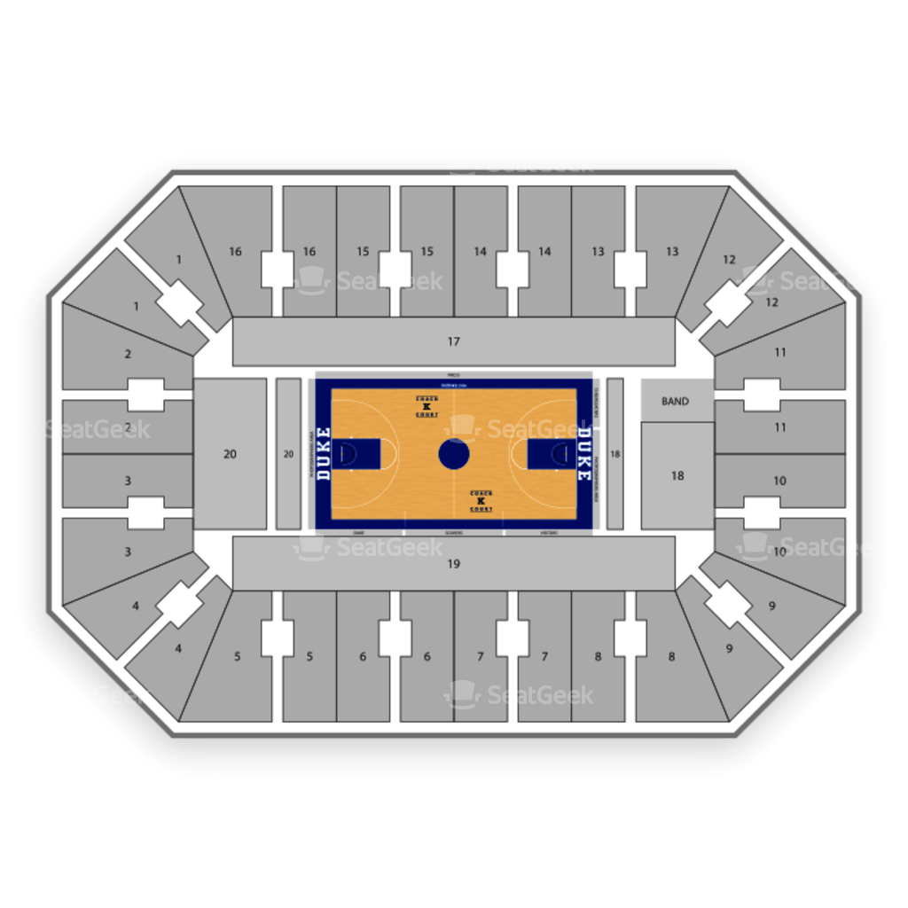 Cameron Indoor Stadium Seating Chart Seating Map Cameron