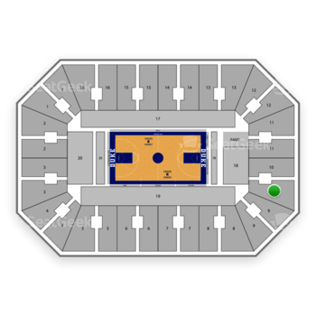 Duke Blue Devils Basketball at Cameron Indoor Stadium Section 10 View