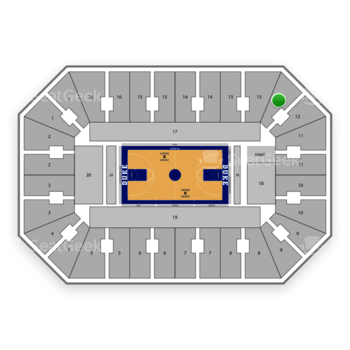 Duke Blue Devils Basketball at Cameron Indoor Stadium Section 12 View