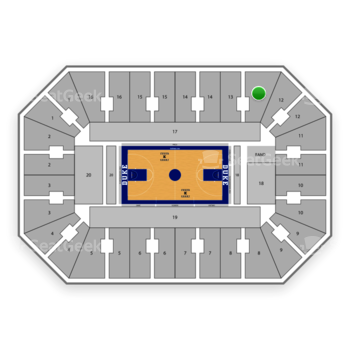 Duke Blue Devils Basketball at Cameron Indoor Stadium Section 13 View