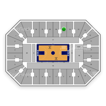 Duke Blue Devils Basketball at Cameron Indoor Stadium Section 14 View