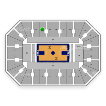 Duke Blue Devils Basketball at Cameron Indoor Stadium Section 15 View
