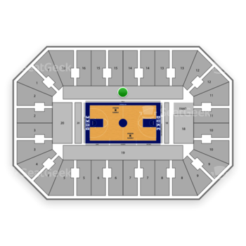 Duke Blue Devils Basketball at Cameron Indoor Stadium Section 17 View