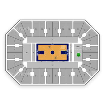 Duke Blue Devils Basketball at Cameron Indoor Stadium Section 18 View