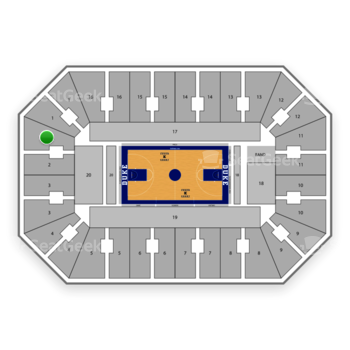 Duke Blue Devils Basketball at Cameron Indoor Stadium Section 2 View
