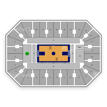 Duke Blue Devils Basketball at Cameron Indoor Stadium Section 20 View