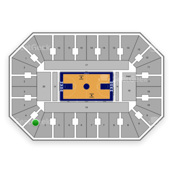 Duke Blue Devils Basketball at Cameron Indoor Stadium Section 4 View