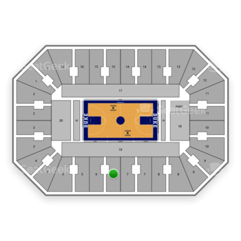 Duke Blue Devils Basketball at Cameron Indoor Stadium Section 6 View