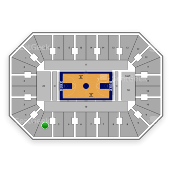 Duke Blue Devils Basketball at Cameron Indoor Stadium Section 5 View