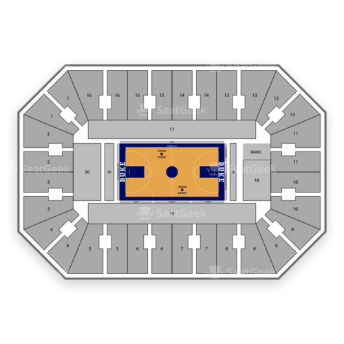 Duke Blue Devils Basketball Seating Chart