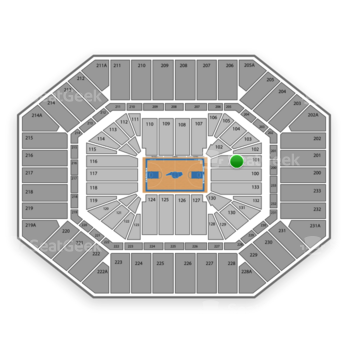 North Carolina Tar Heels Basketball at Dean E. Smith Center Section 101 View