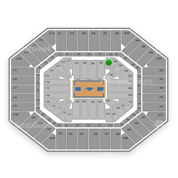 North Carolina Tar Heels Basketball at Dean E. Smith Center Section 106 View