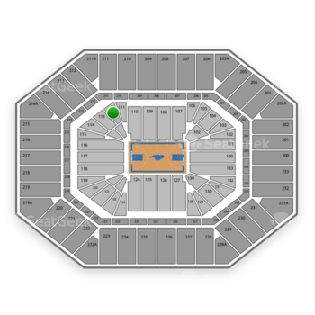 North Carolina Tar Heels Basketball at Dean E. Smith Center Section 112 View